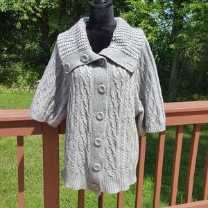 Anthro. A.GIANNETTI Cable Button Up knit S…